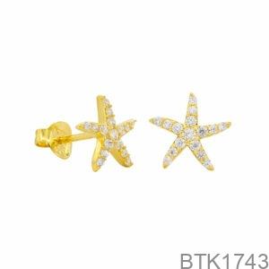 Bông Tai Vàng Vàng 18K - BTK1743