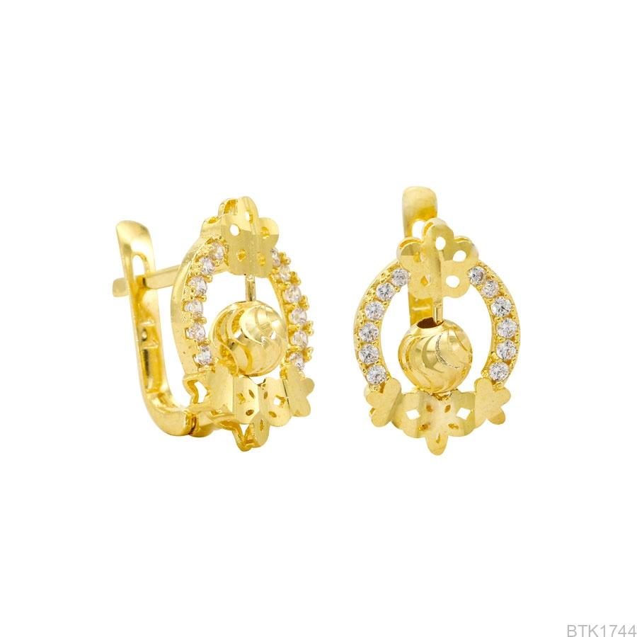 Bông Tai Vàng Vàng 18K - BTK1744