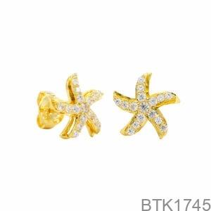 Bông Tai Vàng Vàng 18K - BTK1745
