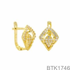 Bông Tai Vàng Vàng 18K - BTK1746