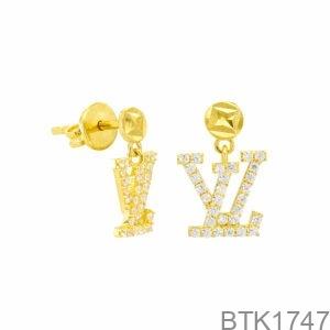 Bông Tai Vàng Vàng 18K - BTK1747
