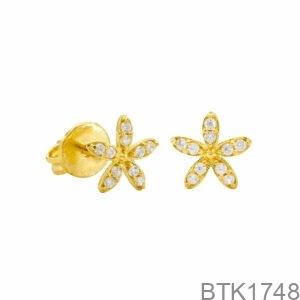 Bông Tai Vàng Vàng 18K - BTK1748