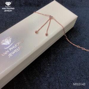 Lắc tay vàng hồng 18K - MTL0143