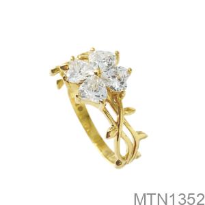 Nhẫn Nữ Vàng Vàng 18K - MTN1352