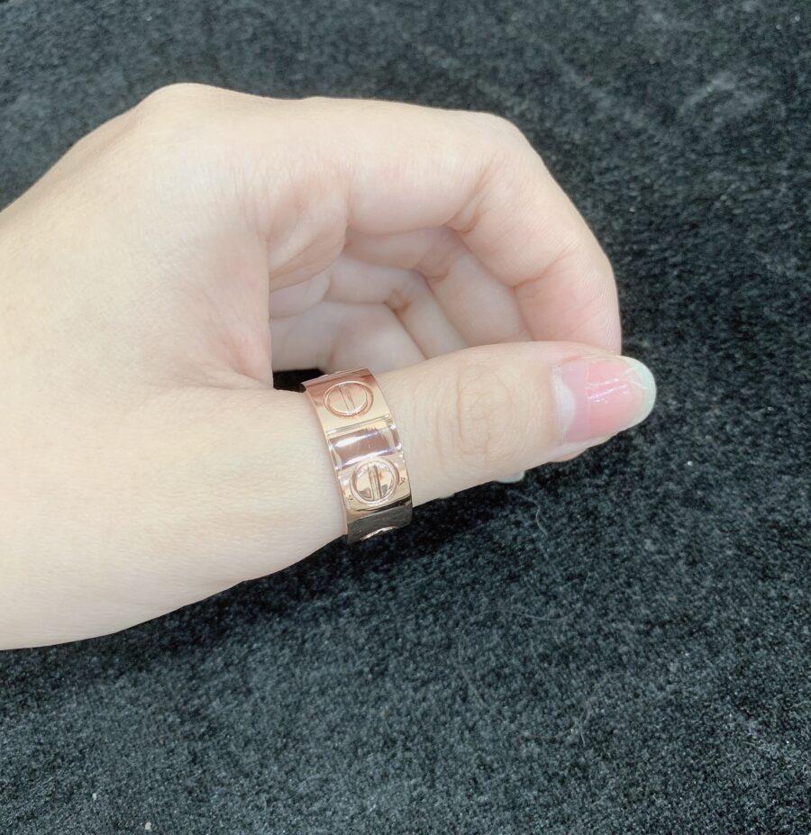 Nhẫn Nam Vàng Hồng 18K - MTN1356