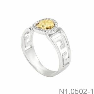 Nhẫn Nam Vàng Trắng 10K - N1.0502-1