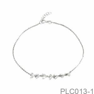 Lắc Chân Vàng Trắng 10K - PLC013-1