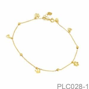 Lắc Chân Vàng Vàng 10K - PLC028-1