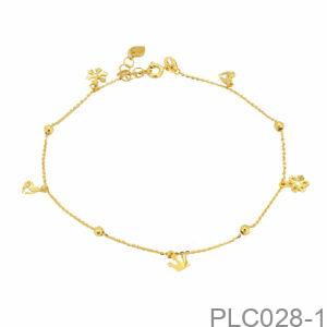 Lắc Chân Vàng Vàng 18K - PLC028-1