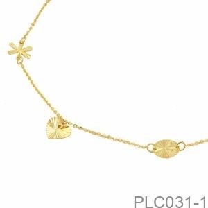 Lắc Chân Vàng Vàng 18K - PLC031-1