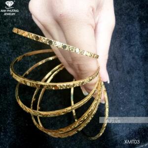 Bộ Vòng Ximen Vàng Vàng 18k - XMT03
