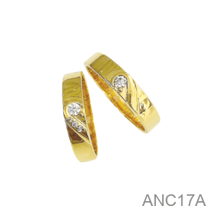 Nhẫn Cưới Vàng Vàng 18K - ANC17A