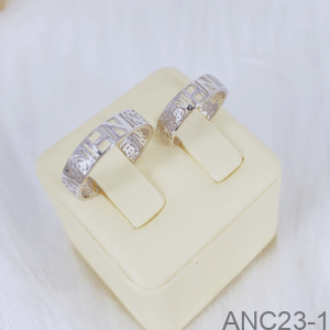 Nhẫn Cưới Vàng Trắng 18K - ANC23-1