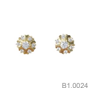 Bông Tai Nữ Vàng Vàng 18K - B1.0024