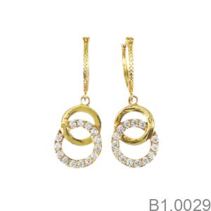 Bông Tai Nữ Vàng Vàng 18K - B1.0029