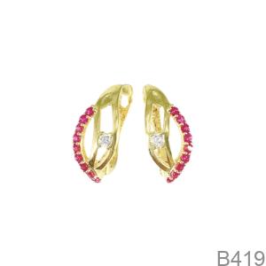 Bông Tai Nữ Vàng Vàng 18K - B419