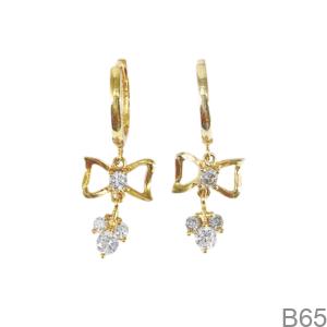 Bông Tai Nữ Vàng Vàng 18K - B65