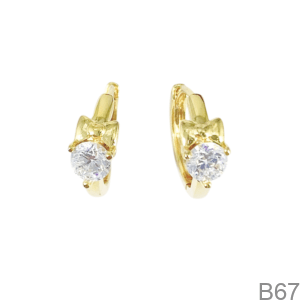 Bông Tai Nữ Vàng Vàng 18K - B67
