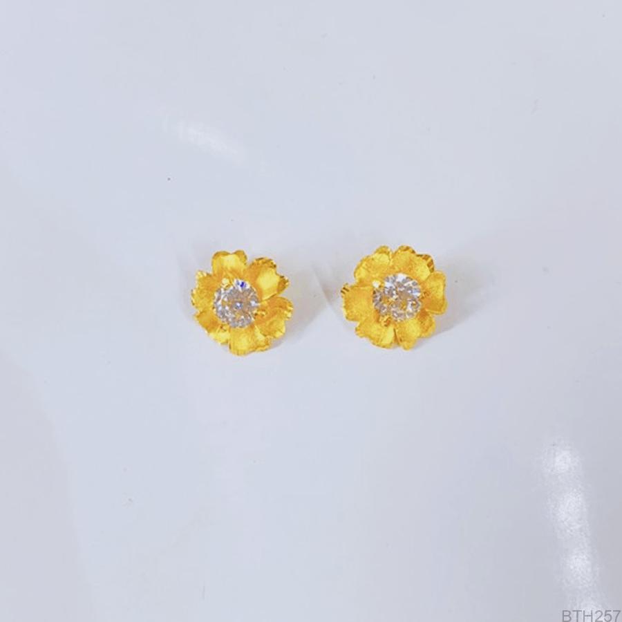 Bông Tai Cưới Vàng 24K - BTH257