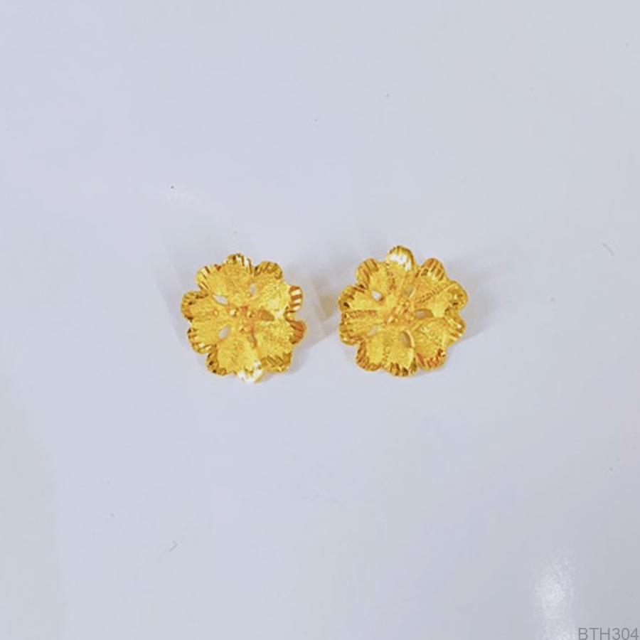 Bông Tai Cưới Vàng 24K - BTH304
