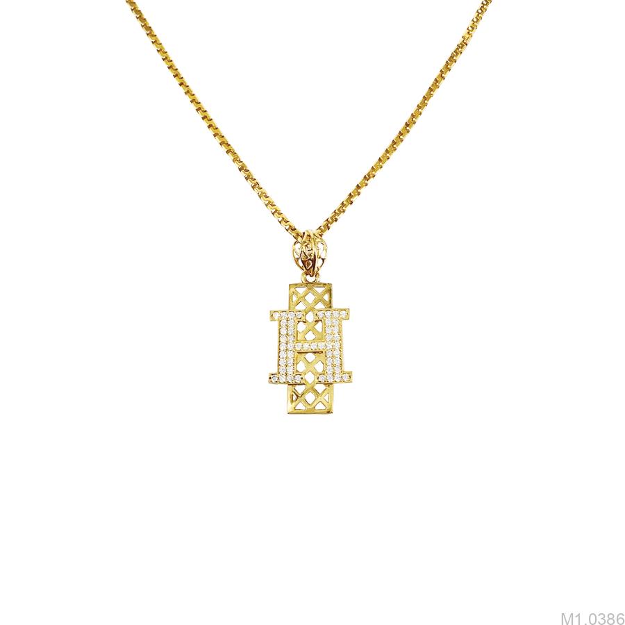 Mặt Dây Nam Chữ H Vàng Vàng 10K - M1.0386