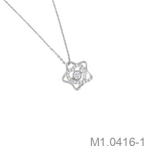 Mặt Dây Nữ Vàng Trắng 10K - M1.0416-1