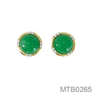 Bông Tai Cẩm Thạch Vàng Vàng 18K - MTB0265