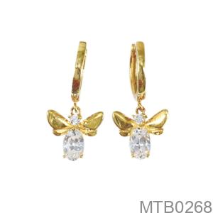 Bông Tai Nữ Vàng Vàng 18K - MTB0268