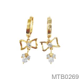 Bông Tai Nữ Vàng Vàng 18K - MTB0269