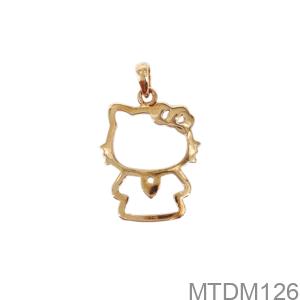 Mặt Dây Nữ Vàng Hồng 18K - MTDM126