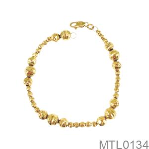 Lắc Tay Nữ Vàng Vàng 18K - MTL0134