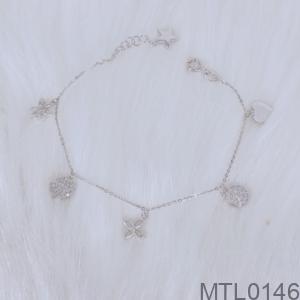 Lắc Tay Vàng Trắng 10K - MTL0146