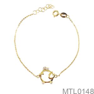 Lắc Tay Trẻ Em Hình Con Gà Vàng Vàng 18K - MTL0148