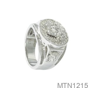 Nhẫn Nam Vàng Trắng 10K - MTN1215