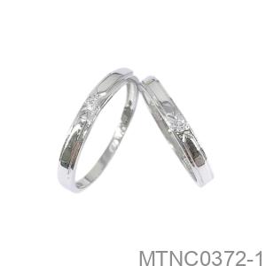 Nhẫn Cưới Vàng Trắng 10K - MTNC0372-1