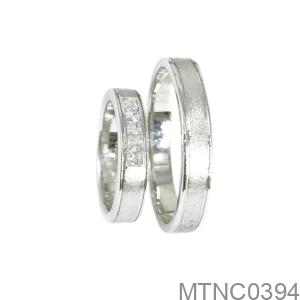 Nhẫn Cưới Vàng Trắng 18K - MTNC0394