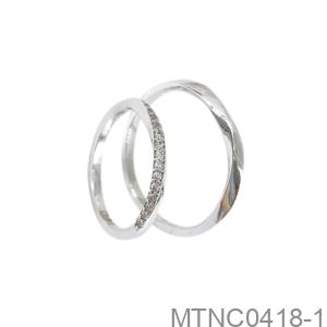 Nhẫn Cưới Vàng Trắng 10K - MTNC0418-1
