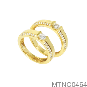 Nhẫn Cưới Vàng Vàng 18K - MTNC0464