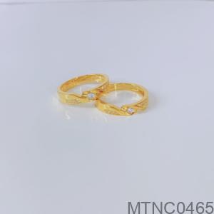 Nhẫn Cưới Vàng Vàng 18K - MTNC0465