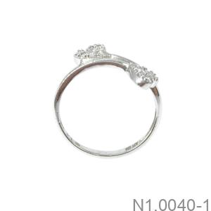 Nhẫn Nữ Vàng Trắng 10K - N1.0040-1