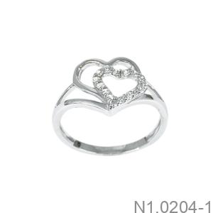 Nhẫn Nữ Vàng Trắng 10K - N1.0204-1