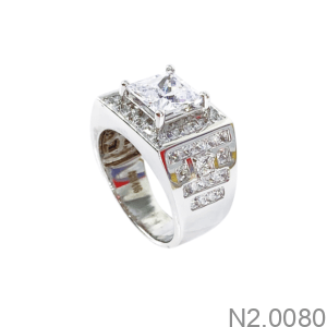 Nhẫn Nam Vàng Trắng 10K - N2.0080