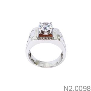 Nhẫn Nam Vàng Trắng 10K - N2.0098