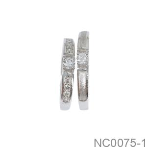 Nhẫn Cưới Vàng Trắng 10K - NC0075-1