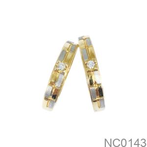 Nhẫn Cưới Hai Màu Vàng 18K - NC0143