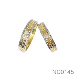 Nhẫn Cưới Hai Màu Vàng 18K - NC0145