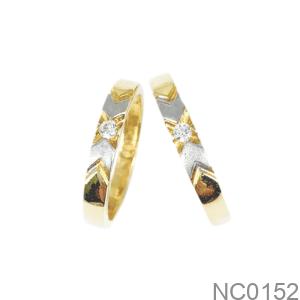 Nhẫn Cưới Hai Màu Vàng 18K - NC0152