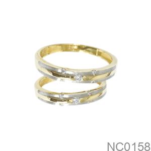 Nhẫn Cưới Hai Màu Vàng 18K - NC0158