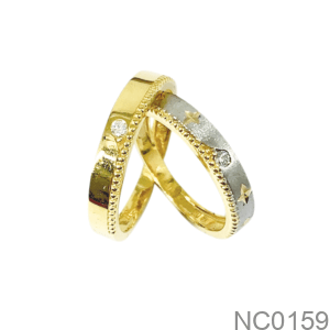 Nhẫn Cưới Hai Màu Vàng 18K - NC0159