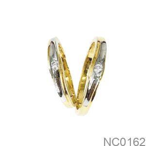 Nhẫn Cưới Vàng Vàng 18K - NC0162